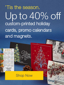 'Tis the season. Save up to 40% on custom-printed holiday cards, promotional calendars and magnets.