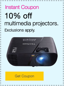 10% off multimedia projectors.