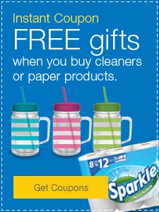 FREE gifts when you buy cleaners or paper products.