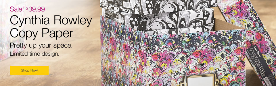 Cynthia Rowley Copy paper. Pretty up your space.