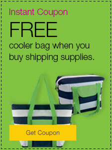 FREE cooler bag when you buy shipping supplies.