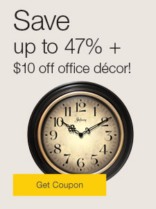 Save up to 47% +  $10 off office décor!