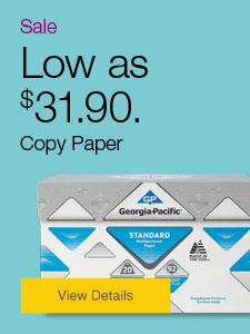 Sale. Low as $31.90 Copy Paper.