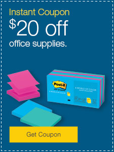 $20 Off $100 Purchase on Office Supplies