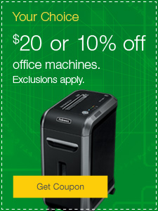 $20 or 10% off office machines.