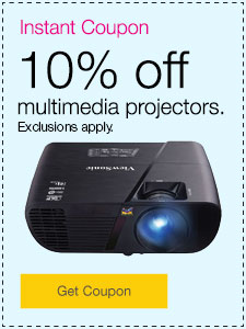 10% off multimedia projectors.  Exclusions apply.