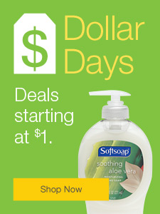 Dollar Days. Deals starting at $1.