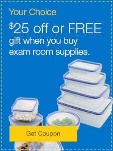 $25 off or FREE gift when you buy exam room supplies.