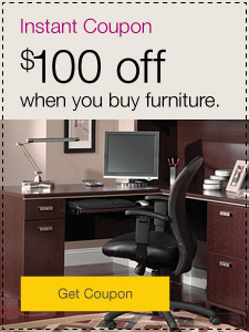 Instant Coupon. $100 off when you buy furniture.