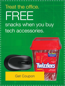 FREE snacks when you buy computer accessories.