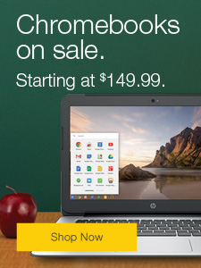 Chromebooks on sale. Starting at $149.99.