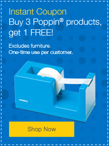 Buy 3 Poppin products, get 1 FREE!