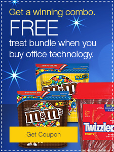 Get a winning combo. FREE treat bundle when you buy office technology.