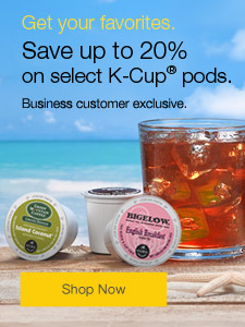 Save up to 20% on select K-Cup® pods.
