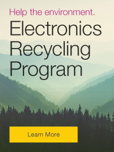 Help the environment. Electronics Recycling Program.