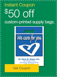 $50 off custom-printed supply bags.