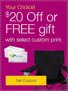 Your Choice! $20 Off or FREE gift with select custom print.
