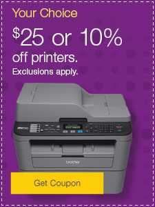 $25 or 10% off printers.