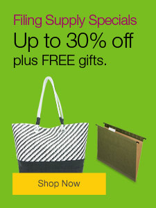 September Filing Specials - Save up to 30%, plus FREE gifts.