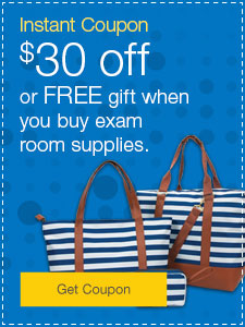 $30 off or FREE gift when you buy exam room supplies.