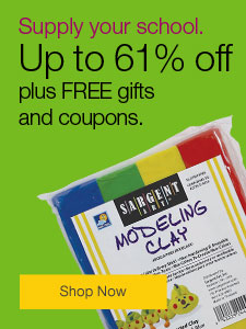 Supply your school. Save up to 61% plus FREE gifts and coupons.