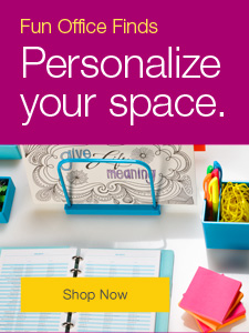 Fun Office Finds. Personalize your space.