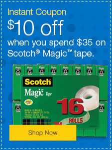 $10 off Scotch® Magic™ office tape.