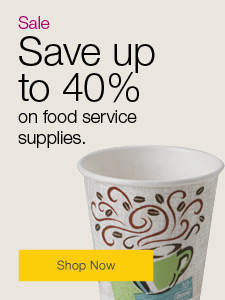 Save up to 40% on foodservice supplies.