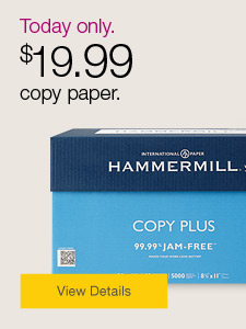 Today Only. $19.99 copy paper.