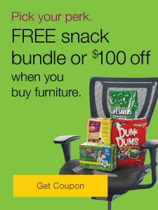 $100 off or FREE gift when you buy furniture.