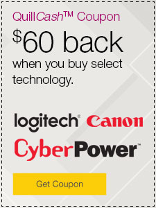 QuillCash™ Coupon $60 back when you buy select technology.