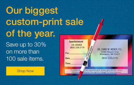 Our biggest custom-print sale of the year. Save up to 30% on more than 100 sale items.