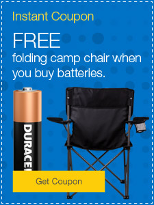 FREE s'mores maker when you buy batteries.