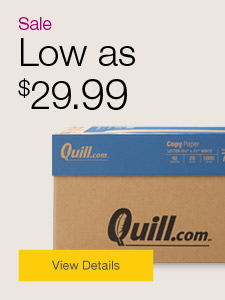 Sale. Low as $29.99 copy paper.