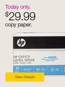 Today only. $29.99 copy paper.