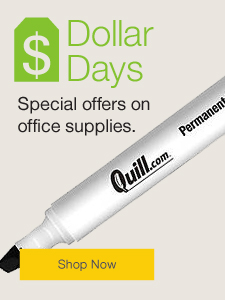 Dollar Days. Special offers on office supplies.