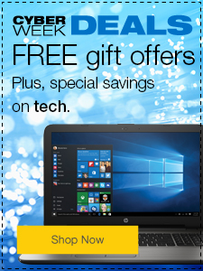 Cyber Week Deals Free gift offers. Plus, special savings on tech.