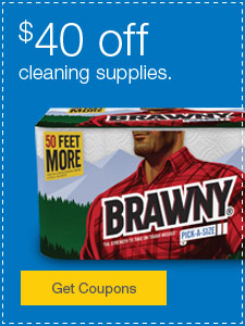 $40 off cleaning supplies.