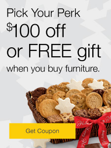 Pick Your Perk. $100 off or FREE gift when you buy furniture.