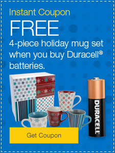 FREE Sherpa blanket when you buy Duracell® batteries.