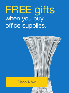 FREE gifts when you buy office supplies.