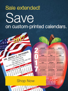 Sale extended! Save on custom-printed calendars.