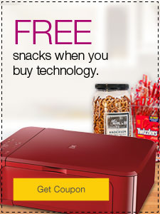 FREE snacks when you buy technology.