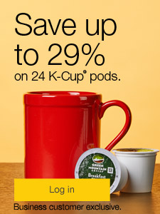 Save up to 29% on 24 K-Cup® pods. Business customer exclusive.