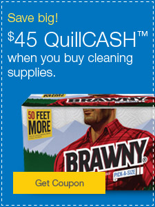 Instant Coupon | $35 off cleaning supplies, paper towels and more.