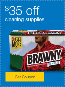 $35 off cleaning supplies.