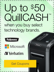 Up to $50 QuillCASH™ when you buy select technology brands.