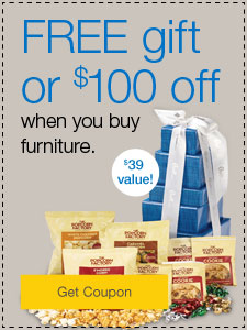 $100 off or FREE tote bag when you buy furniture.
