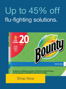 Up to 45% off flu-fighting solutions.