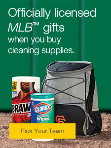 Officially licensed MLB™ gifts when you buy cleaning supplies.